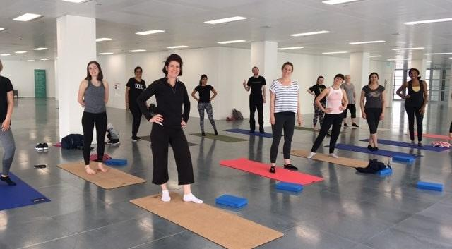 Yoga & Pilates at 10 Fleet Place, City of London (photo taken pre-Covid)